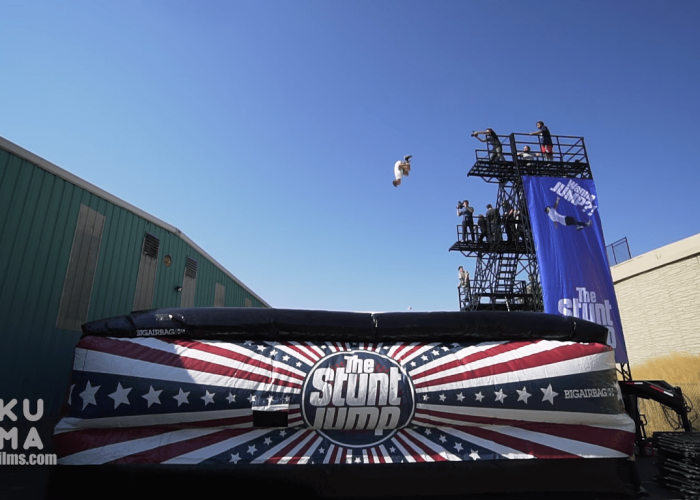 Kumafilms and the Stunt Jump join forces for an epic Freefall video on the BigAirBag Revolution
